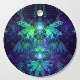 The Clockwork Kite Wings of a Blue-Green Dragonfly Cutting Board