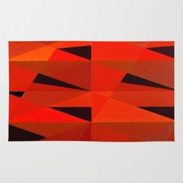 Triangular Patterns in Red Rug