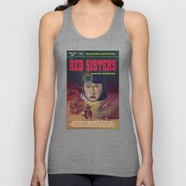 """""""Red Sisters"""" Book Cover Unisex Tank Top"""
