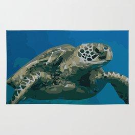 Sea Turtle Ocean blue Water Rug