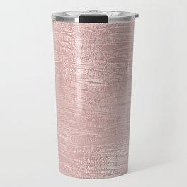 Metallic Rose Gold Blush Travel Mug