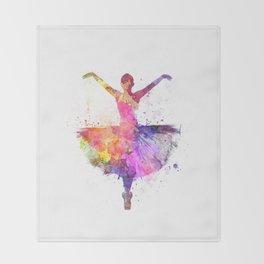 Woman ballerina ballet dancer dancing Throw Blanket