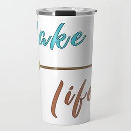 Lake Life - Summer Camp Camping Holiday Vacation Gift Travel Mug