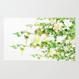 Watercolor Ivy Rug