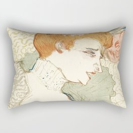 "Henri de Toulouse-Lautrec ""Mademoiselle Marcelle Lender, en Buste"" Rectangular Pillow"