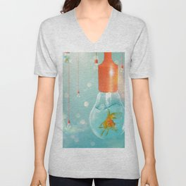 Ideas and Goldfish ... Unisex V-Neck