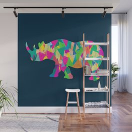 Abstract Rhino Wall Mural