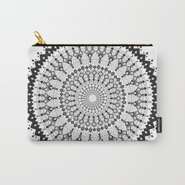 Geometric Sun Mandala Carry-All Pouch