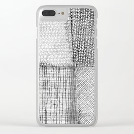 White & Grey Clear iPhone Case
