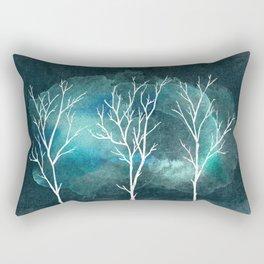 Trees In Winter Rectangular Pillow