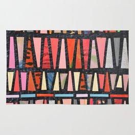 Pink Pyramid Pattern Rug