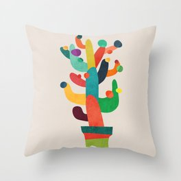 Whimsical Cactus Throw Pillow