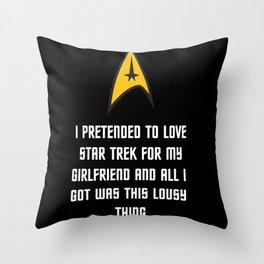 Trek Stuff Throw Pillow