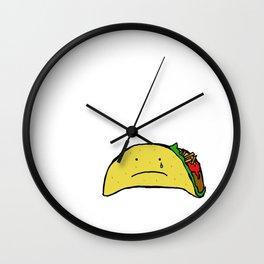 Sad Taco Wall Clock