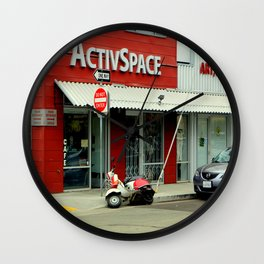 Not So Active Parking Space Wall Clock