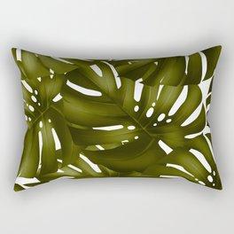 monstera leaves 3 Rectangular Pillow
