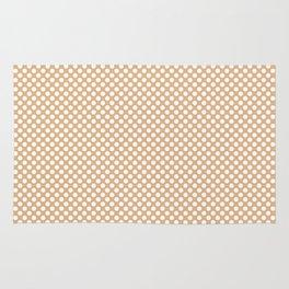 Desert Mist and White Polka Dots Rug