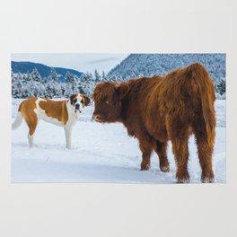St bernard VS a Hairy cow Rug