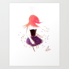 Feathers make you dance  Art Print