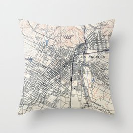 Vintage Map of Los Angeles California (1894) Throw Pillow