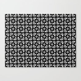 Ice Skates and Snowflakes Pattern Canvas Print