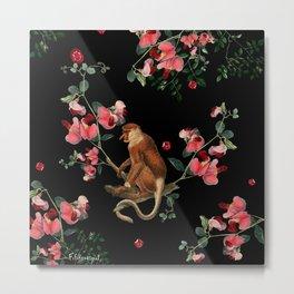 Monkey World: Nosy Metal Print
