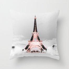 pariS Black & White + Pink copyright 2sweet4wordsDesigns Throw Pillow