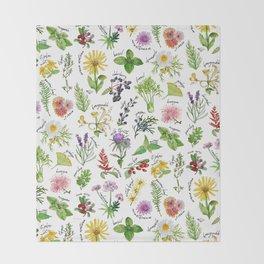 Plants & Herbs Alphabet Throw Blanket