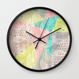Floral MIX Wall Clock
