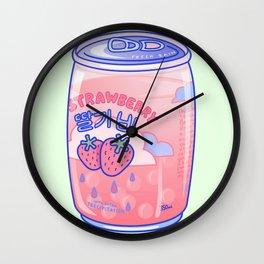 Strawberry Rain Wall Clock