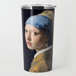 Girl With a Pearl Earring - Vermeer Travel Mug