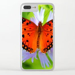 Passion Butterfly Clear iPhone Case