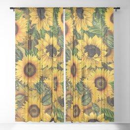 Vintage & Shabby Chic - Noon Sunflowers Garden Sheer Curtain