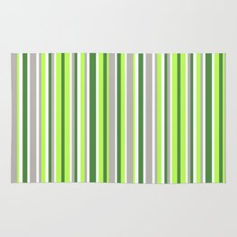 Green and Grey Stripes Rug