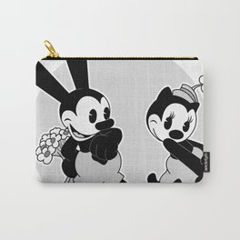 Oswald and Ortensia: Flowers (B/W) Carry-All Pouch