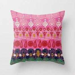 lotus block pink Throw Pillow