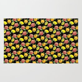 Juicy Fruits in Graphic Realistic Pattern Rug