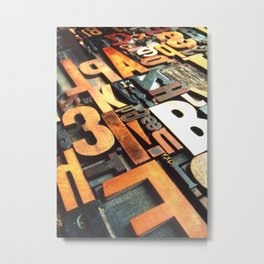 3B - Typography Photography™ Metal Print