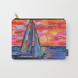 Sail at Dusk Carry-All Pouch