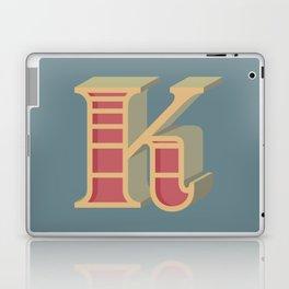 Alphabet Drop Caps Series- K Laptop & iPad Skin
