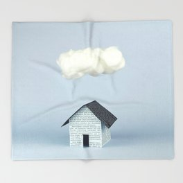 A cloud over the house Throw Blanket