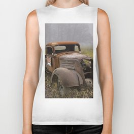 Vintage Chevy Pickup for Sale in a Field of Grass Biker Tank