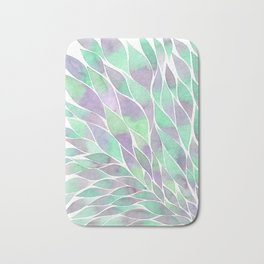 Feathers painting watercolors Bath Mat