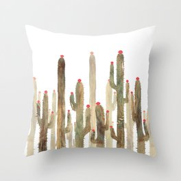 Autumn Cactus 4 Throw Pillow