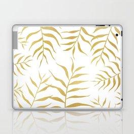 Gold palm leaves Laptop & iPad Skin