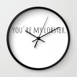 Lobster. Wall Clock