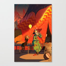 Even Clowns need some Smilin' Canvas Print