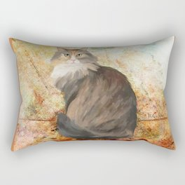 Maine coon cat Rectangular Pillow