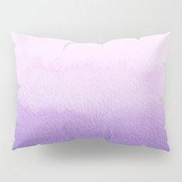 Purple Watercolor Design Pillow Sham