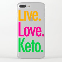 Live Love Keto Clear iPhone Case